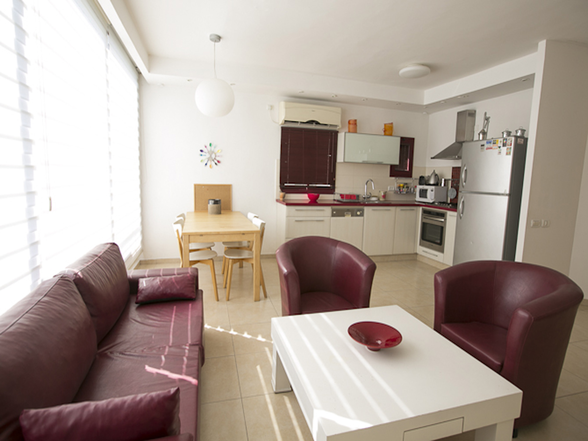 Wide and Sunny Dizengoff North 2bd Apt